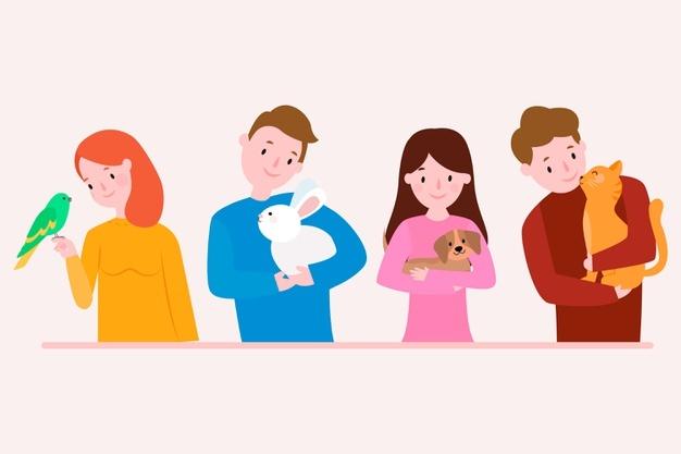 حیوانات خانگی به انگلیسی